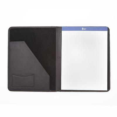 Royce Leather Writing Padfolio, Black