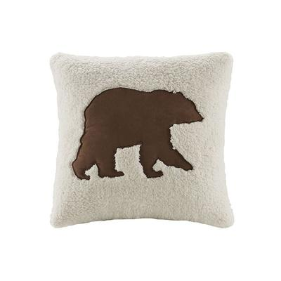 Woolrich Bear Decorative Pillow, White