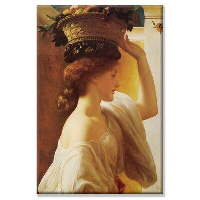 Buyenlarge Eucharis Girl with a Basket of Fruit Painting ...