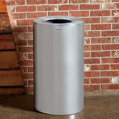 Rubbermaid FGAOT35SAPL Atrium Satin Finish 2-Piece Round ...