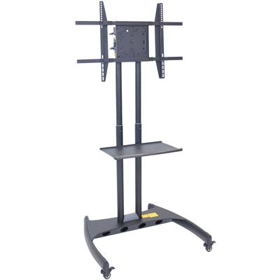 luxor FP3500 Adjustable Height TV Cart with Shelf and Rot...