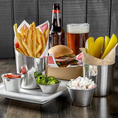 """Thunder Stainless Steel French Fry Cup - 3 1/2"""""""