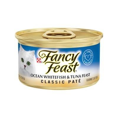 Fancy Feast Classic Ocean Whitefish & Tuna Feast Canned C...