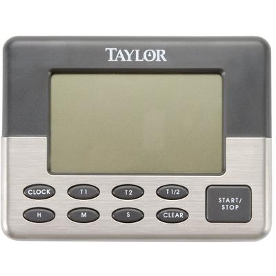 Taylor 5872-9 Jumbo Digital Dual Event Kitchen Timer with...