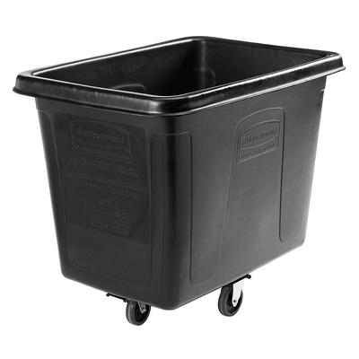Rubbermaid 1867538 Black 12 Cu. Ft. Bulk Cube Truck (400 ...