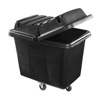 Rubbermaid 1867537 Black 16 Cu. Ft. Bulk Cube Truck (500 ...