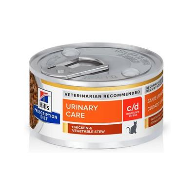 Hill's Pet Nutrition c/d Multicare Urinary Chicken & Vegetable Canned Cat Food, 2.9-oz, 24 ct
