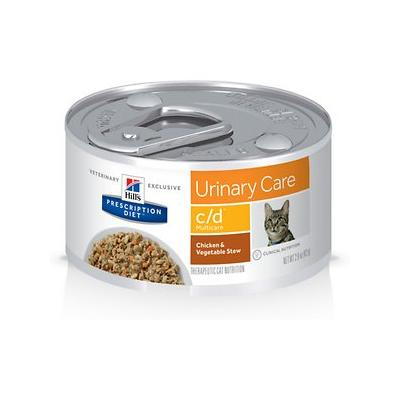 Hill's Pet Nutrition c/d Multicare Urinary Tract Chicken & Vegetable Cat Food, 2.9-oz, 24 ct