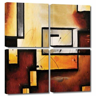 ArtWall 'Abstract Modern' by Jim Morana 4 Piece Painting ...