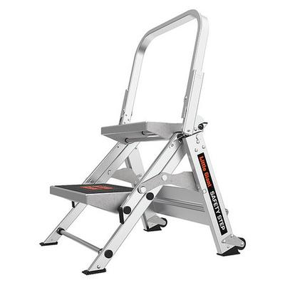 Little Giant 10210B Stepladder,Alum,1-1/2 ft. H,300 lb. Cap.