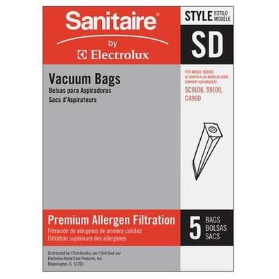 Sanitaire Disposable Vacuum Bag,SD,PK5