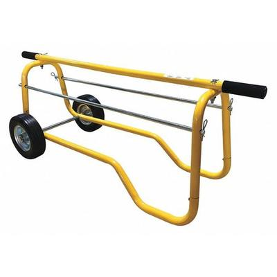 Portable, Wheeled Wire Spool Cart, Green ,Power First, 1TCY5