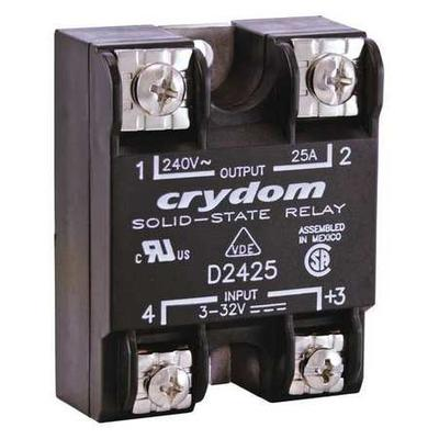 Solid State Relay,3 to 32VDC,25A CRYDOM D2425