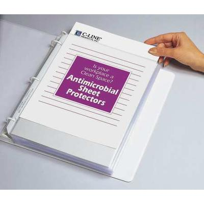 Antimicrobial Heavyweight Sheet Protector, Clear ,C-Line ...