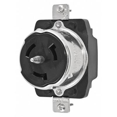 Hubbell Wiring Device-Kellems 50A Locking Receptacle 3P 4...
