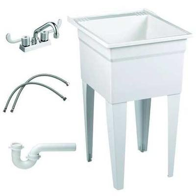 FIAT PRODUCTS FL7TG100 Laundry Tub Kit, With Faucet, Floo...