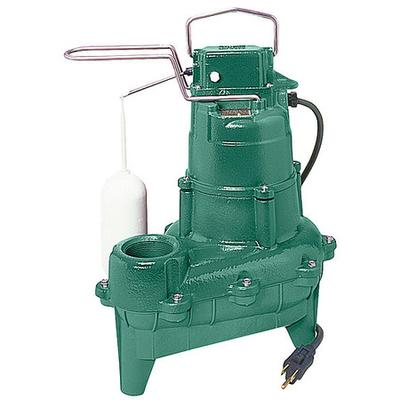 "Zoeller Waste-Mate 4/10 HP 2"" Auto Submersible Sewage Pump 115V Vertical"