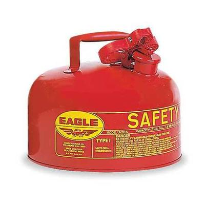 Eagle UI-20S Type I Safety Can, 2 gal., Red, 9-1/2In H