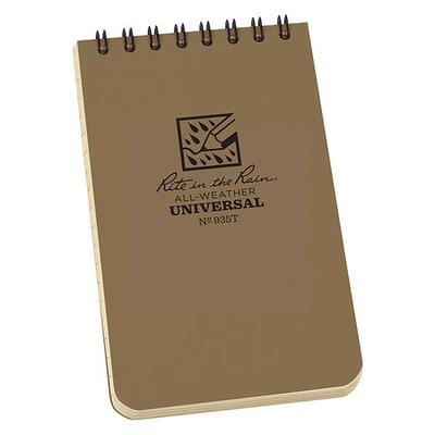 Rite in the Rain 935T Pocket Notebook, Universal, 3 x 5In.