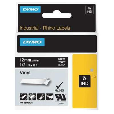 DYMO 1805435 Label Cartridge, White/Black, 18 ft. L