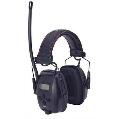 Electronic Ear Muff,AM/FM,Black,25dB