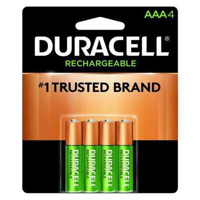 Duracell DX2400R4 Rechargeable Battery,AAA,800mAh,PK 4