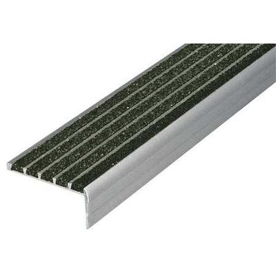 Wooster 132BLA3 Safety Stair Nosing, Black, Extruded Alum