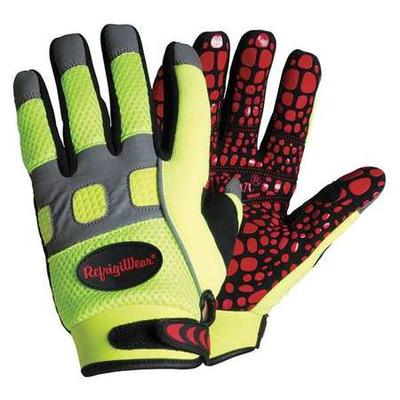 Cold Protection Gloves,XL,Hi-Vis Lime,PR REFRIGIWEAR 0379...