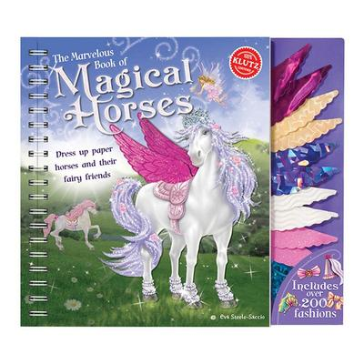 The Marvelous Book of Magical Horses Paper Doll Set by Klutz, Multicolor