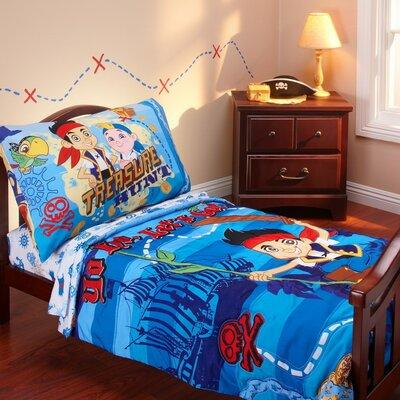 Disney Jake and the Neverland Pirates 4 Piece Toddler Bed...