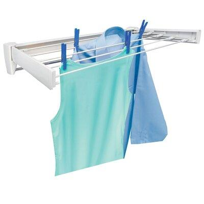 Leifheit Telegant 70 Retractable Wall Mount Clothes Drying Rack with Towel Bar 83201