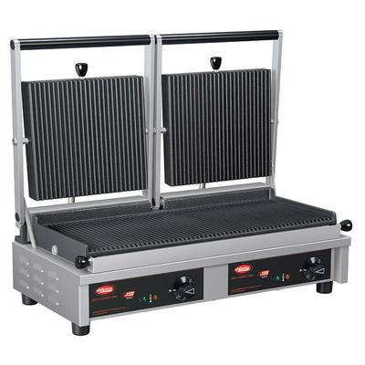 Hatco MCG20G Commercial Panini Press w/ Cast Iron Grooved Plates, 208v/1ph