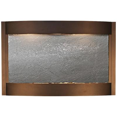 "ADAGIO Calming Waters Black Stone Antique Bronze 35""H Wal..."