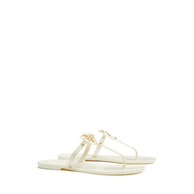 Tory Burch Mini Miller Jelly Thong Sandals, Ivory, size 11