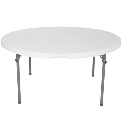 "Lifetime Round Folding Table, 60"" Plastic, White Granite ..."