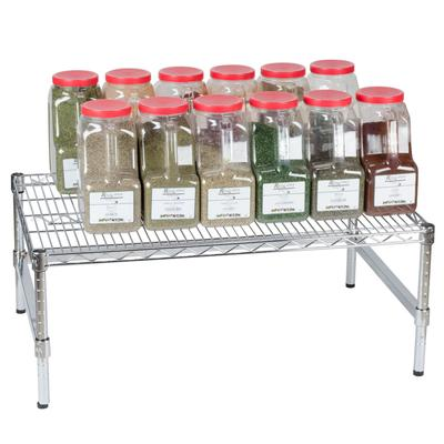 "Regency 36"" x 24"" x 14"" Chrome Plated Wire Dunnage Rack w..."