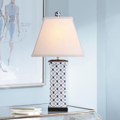 East Galway Blue and White Porcelain Table Lamp