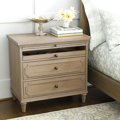 Ballard Designs Isabella Large Nightstand with Charging S...