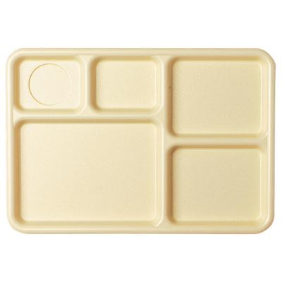Cambro 10145CW133 Camwear Rectangular Tray - 5-Compartmen...