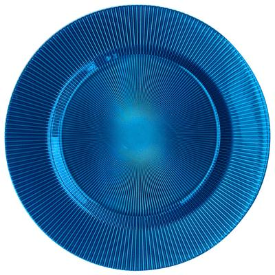 "The Jay Companies 13 3/8"" Round Sunray Cobalt Glass Charg..."