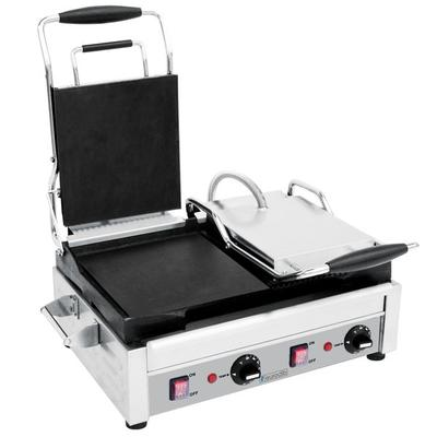 Eurodib SFE02375 Double Panini Grill with Smooth Left Pla...