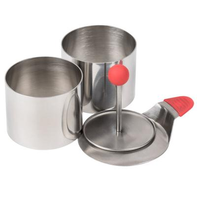 Ateco 4950 2 3/4'' Stainless Steel 4-Piece Round Food Mol...