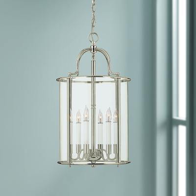 "Hinkley Gentry 14"" Wide Polished Nickel 6-Light Pendant"
