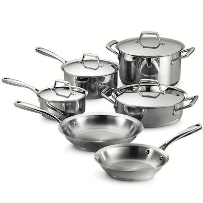 Tramontina Gourmet Prima Tri-Ply Stainless Steel 10-pc. Cookware Set, Multicolor