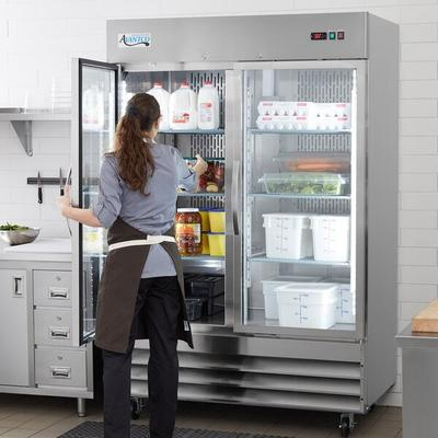 "Avantco SS-2R-G-HC 54"" Glass Door Reach-In Refrigerator"