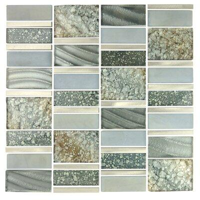Abolos Imperial Random Sized Glass and Aluminum Mosaic Ti...