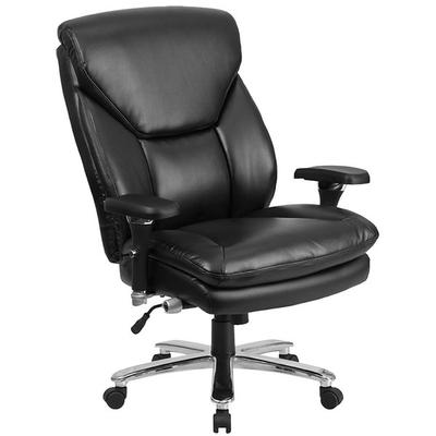 FLASH Furniture GO-2085-LEA-GG High-Back Black Leather In...