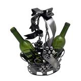 Three Star Basket Holding 2 Bottle Tabletop Wine Rack ZB2050 | White Wine Red