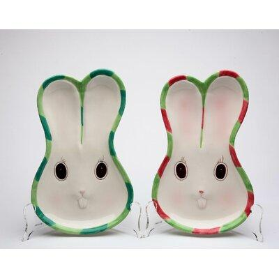 CosmosGifts Bunnies Forever Plate 20875