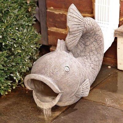 Wind & Weather Fish Downspout Statue RG6204